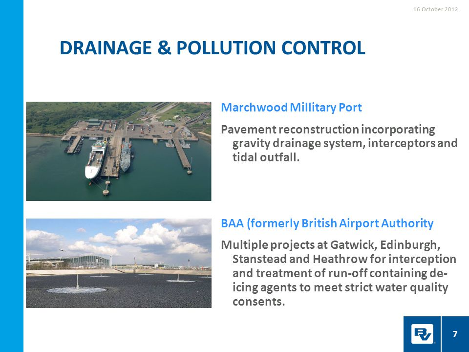 Drainage & pollution control