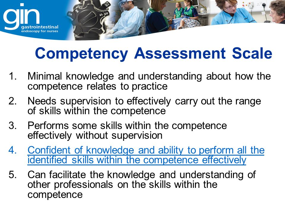 Competency Assessment Scale