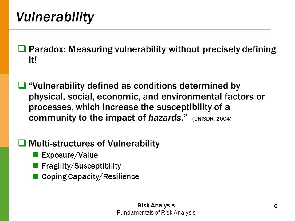 Vulnerability Paradox: Measuring vulnerability without precisely defining it!