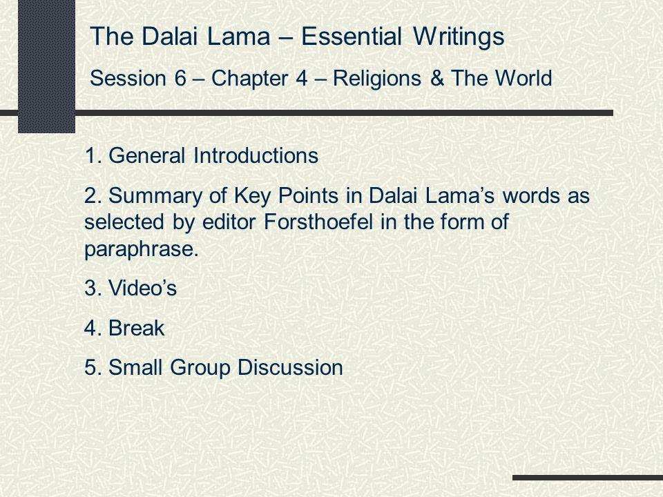 The Dalai Lama – Essential Writings
