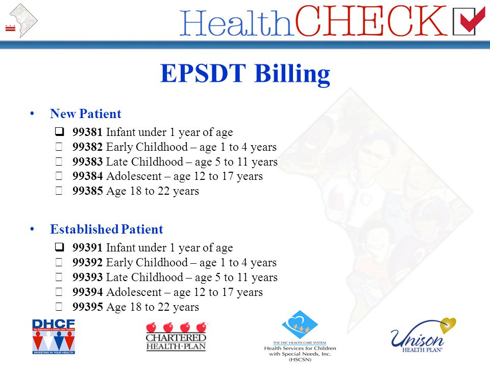 EPSDT Billing New Patient Established Patient