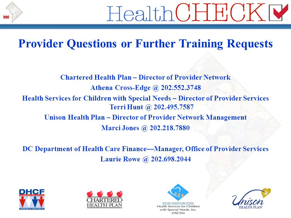 Provider Questions or Further Training Requests