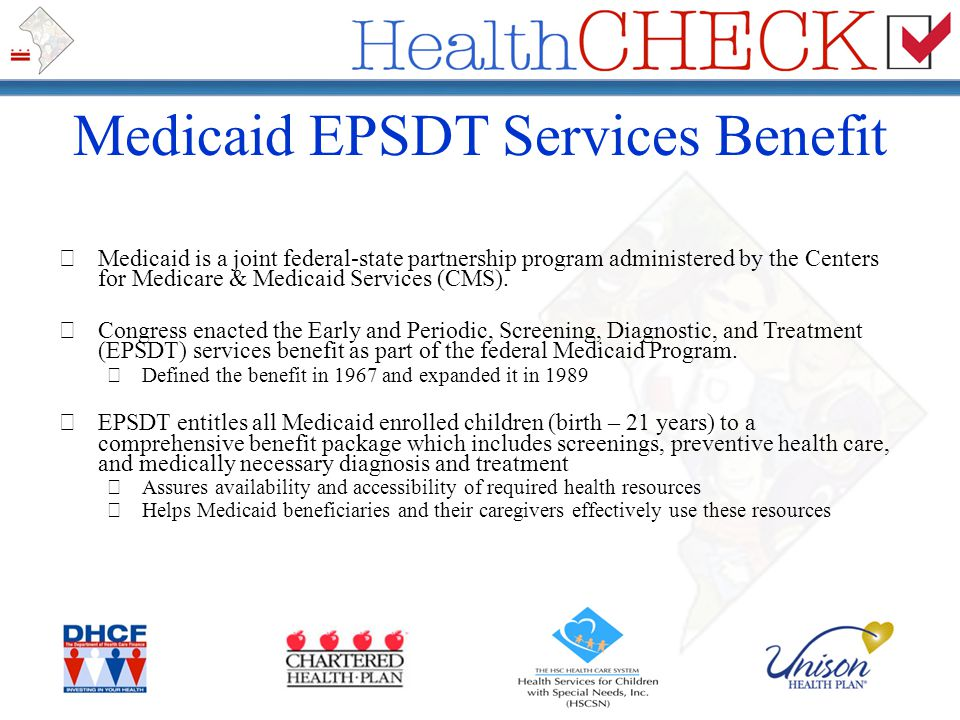Medicaid EPSDT Services Benefit