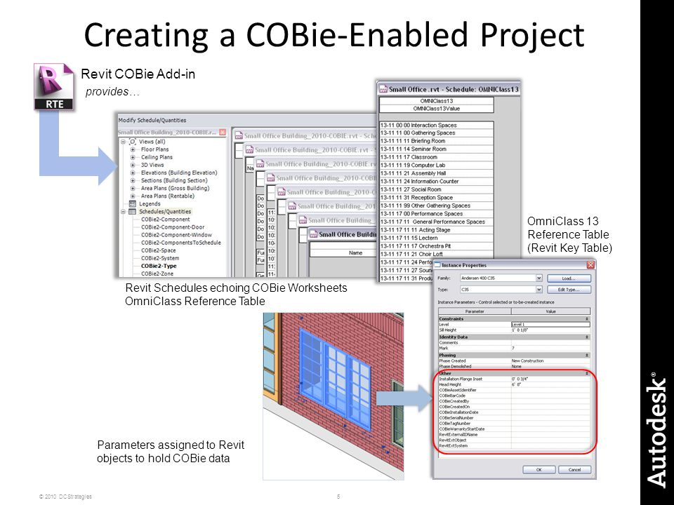 Creating a COBie-Enabled Project