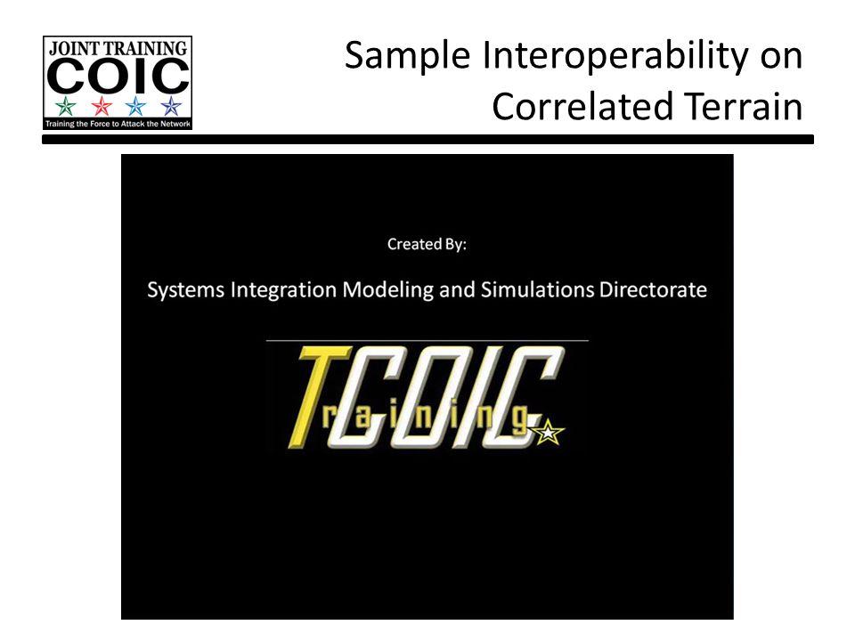 Sample Interoperability on Correlated Terrain