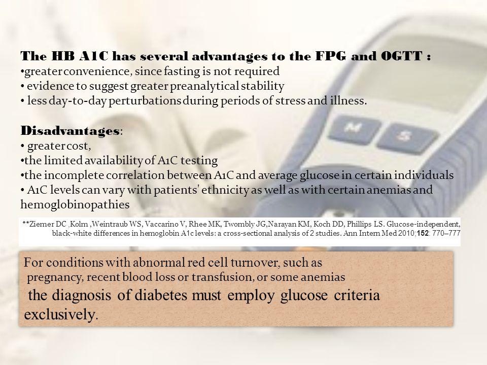 the diagnosis of diabetes must employ glucose criteria exclusively.