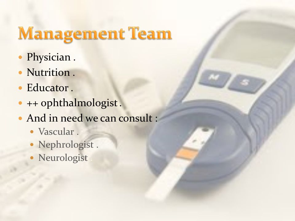 Management Team Physician . Nutrition . Educator .