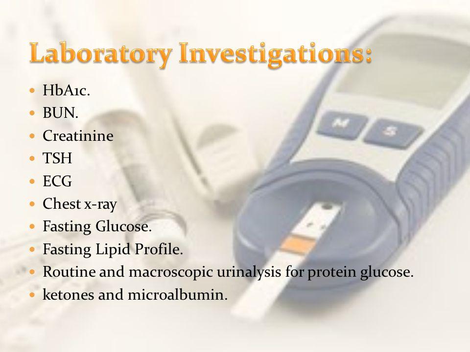 Laboratory Investigations: