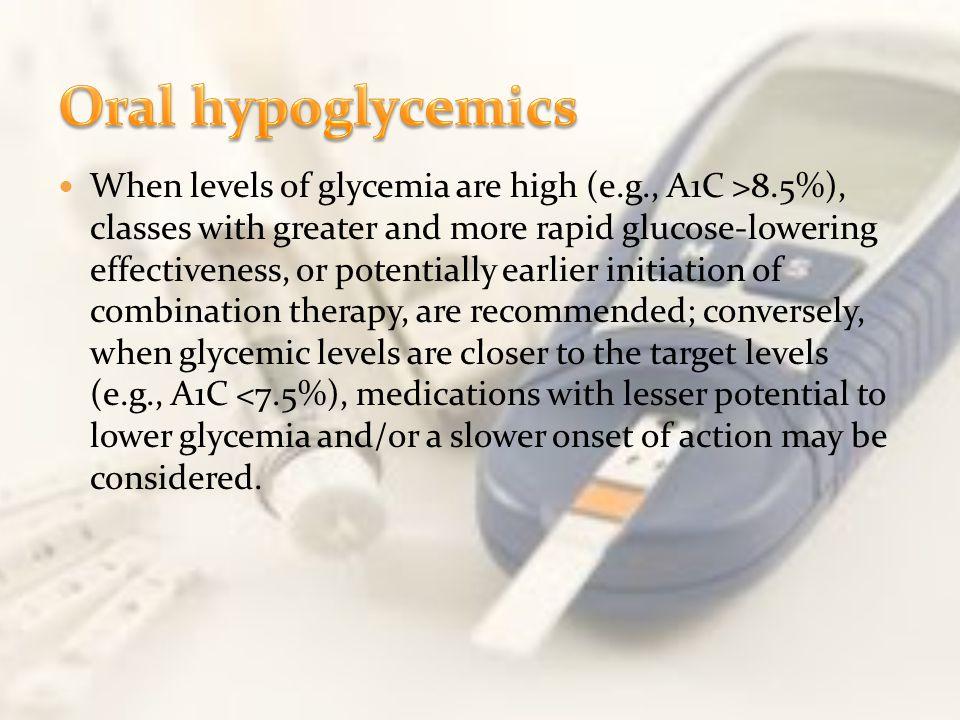 Oral hypoglycemics