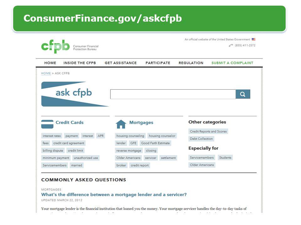 ConsumerFinance.gov/askcfpb