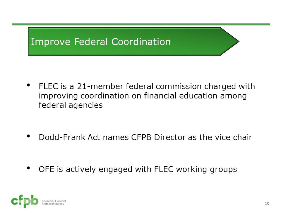 Improve Federal Coordination