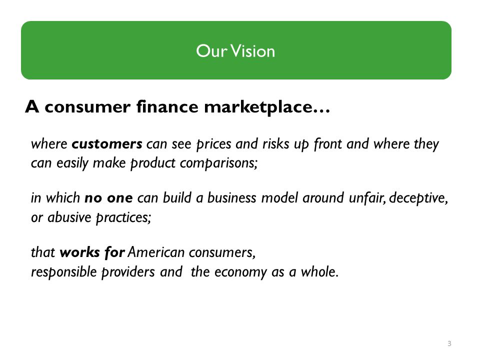 A consumer finance marketplace…