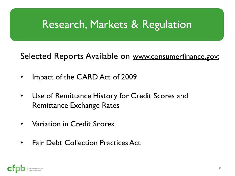 Research, Markets & Regulation