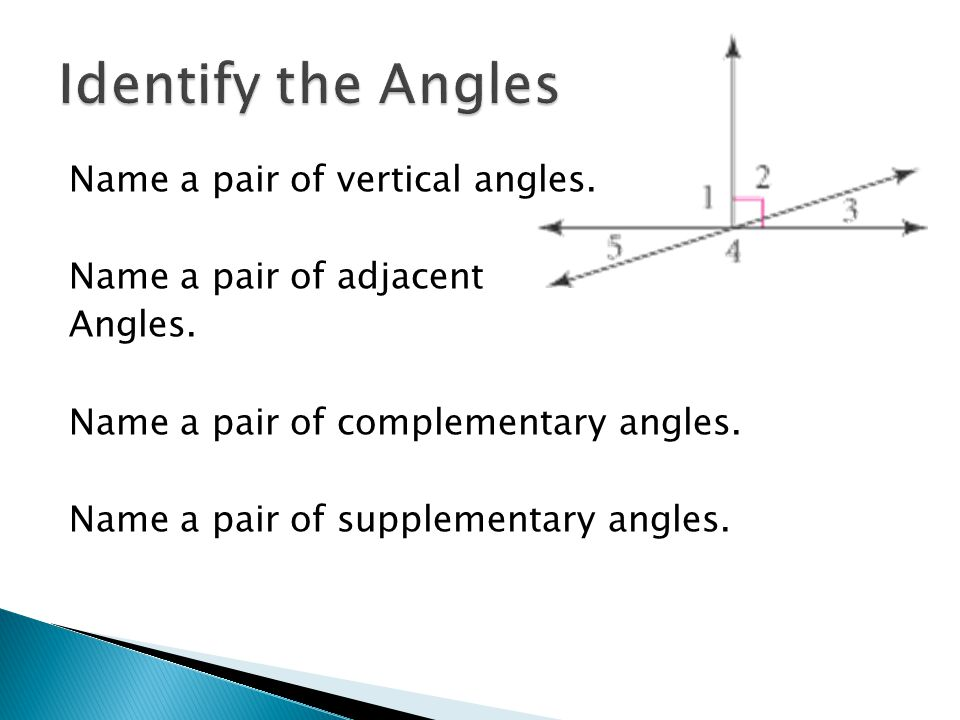 Identify the Angles