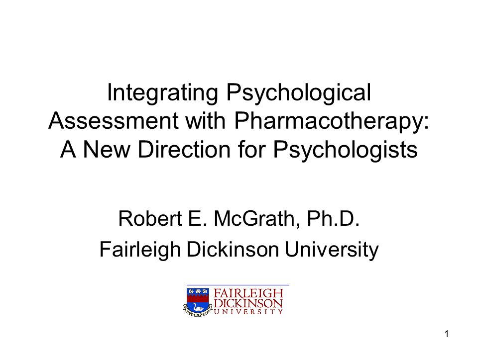 Robert E. McGrath, Ph.D. Fairleigh Dickinson University