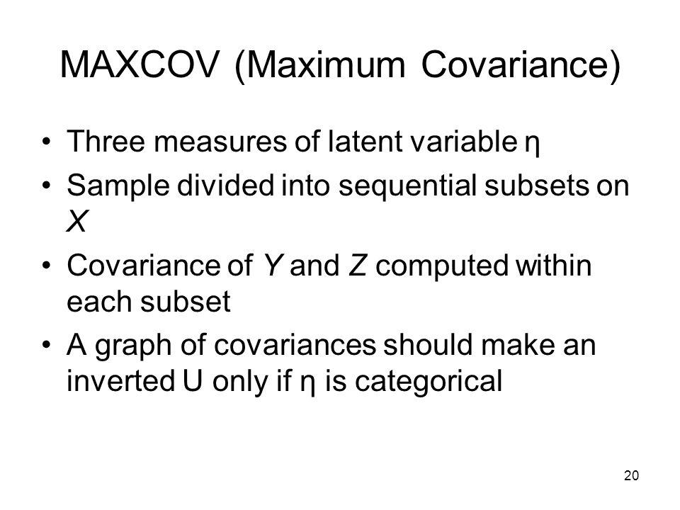 MAXCOV (Maximum Covariance)