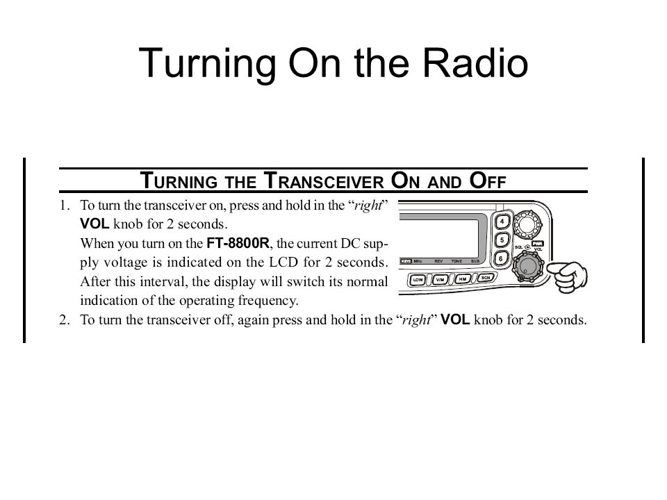 Turning On the Radio