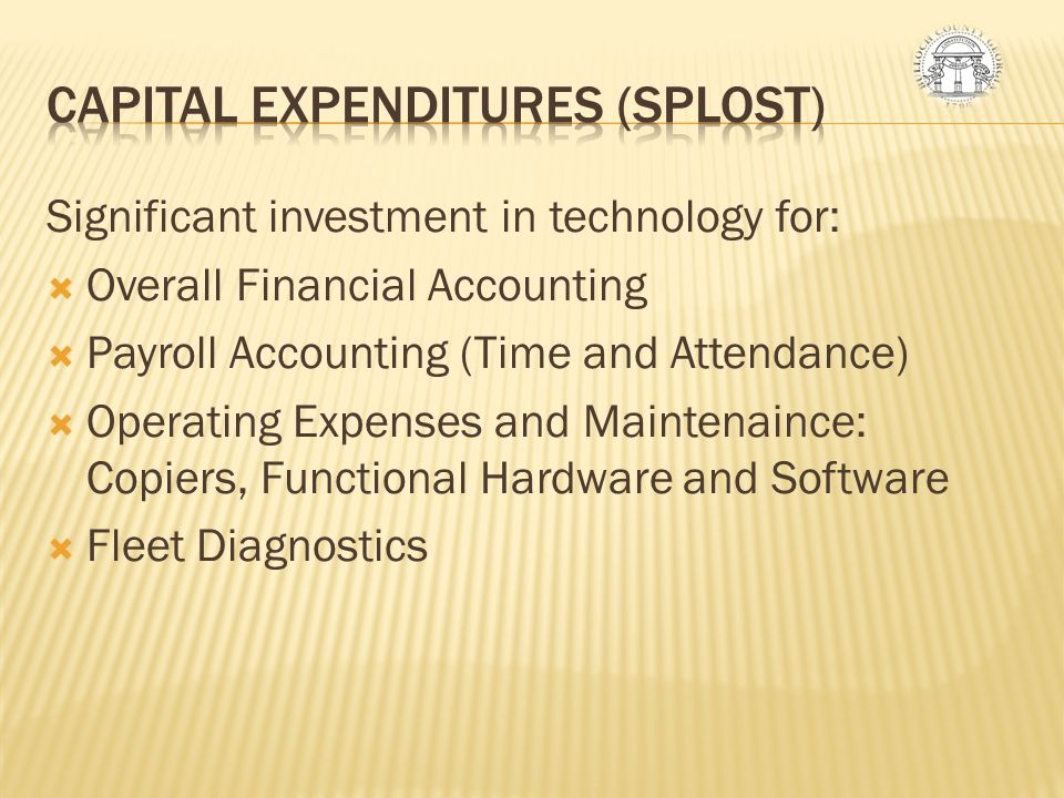 CAPITAL EXPENDITURES (SPLOST)