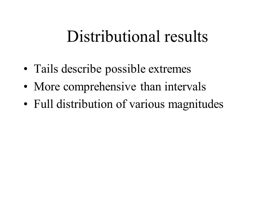 Distributional results