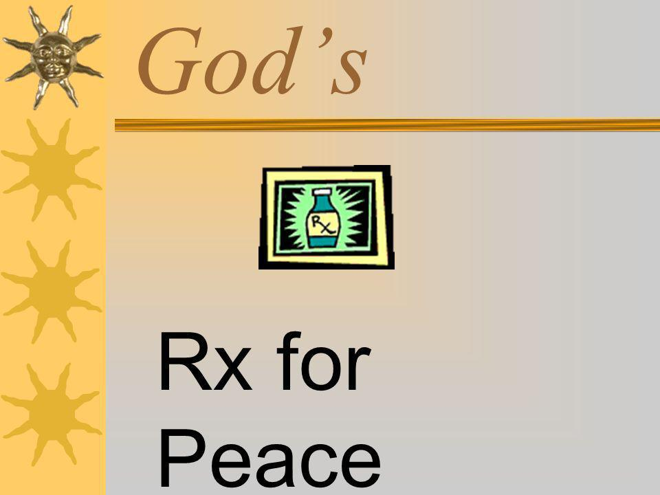 God's Rx for Peace