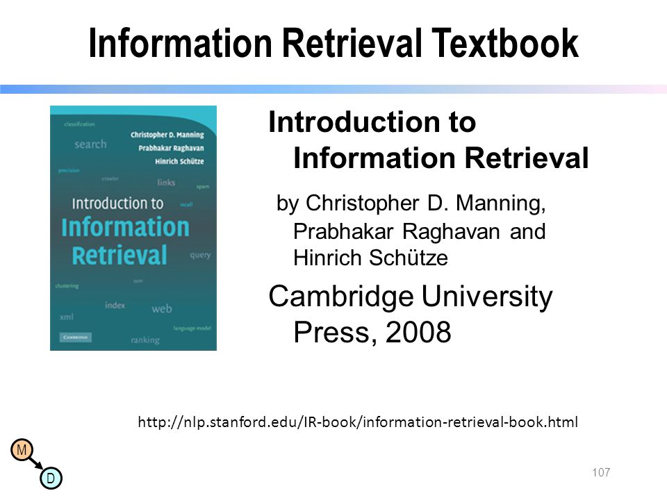 Information Retrieval Textbook
