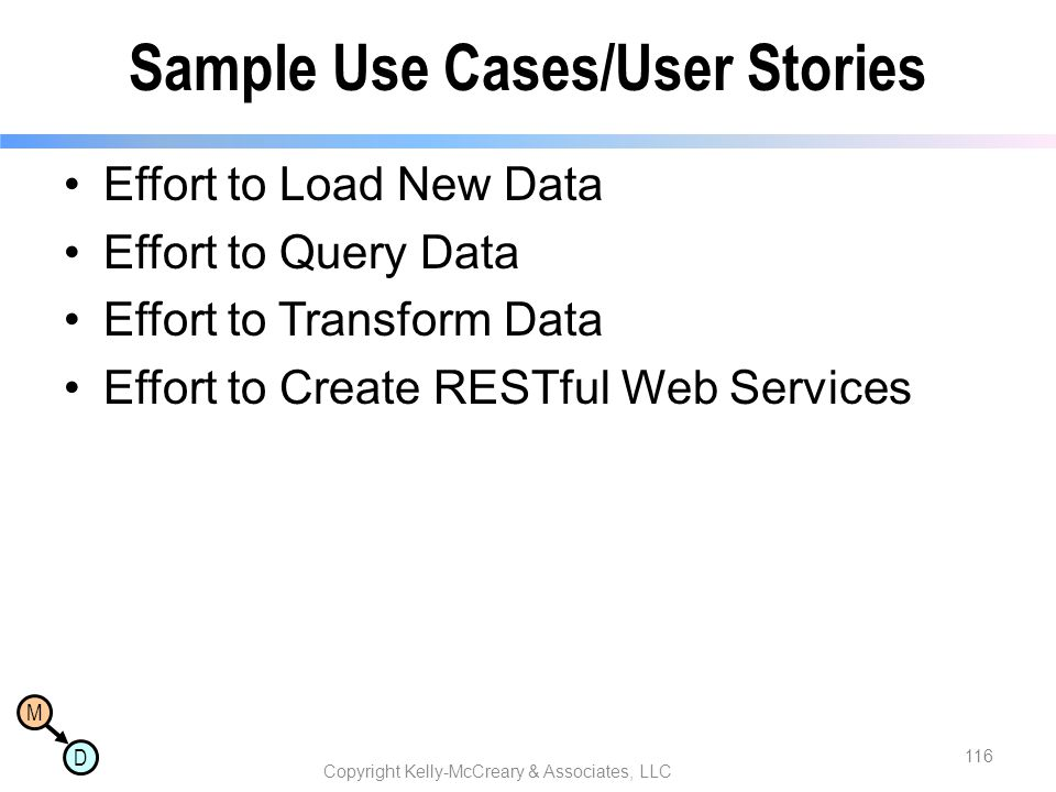 Sample Use Cases/User Stories