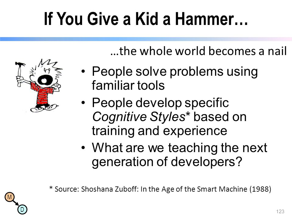 If You Give a Kid a Hammer…