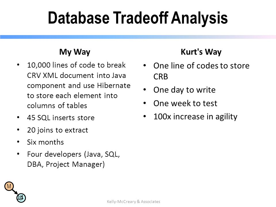 Database Tradeoff Analysis
