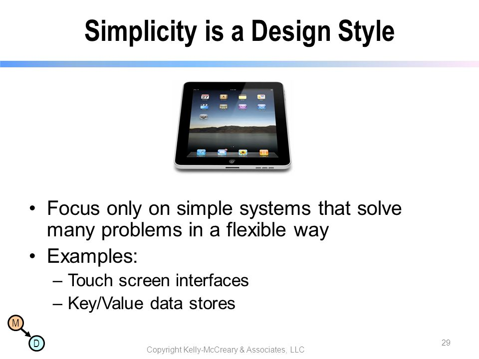 Simplicity is a Design Style