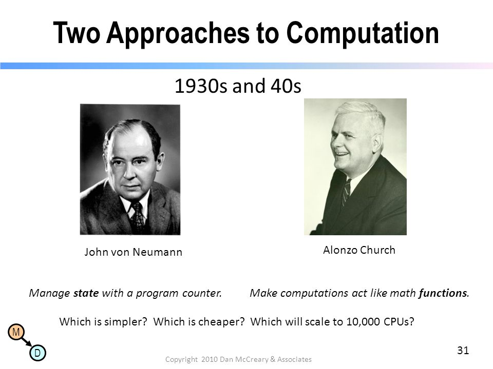 Two Approaches to Computation