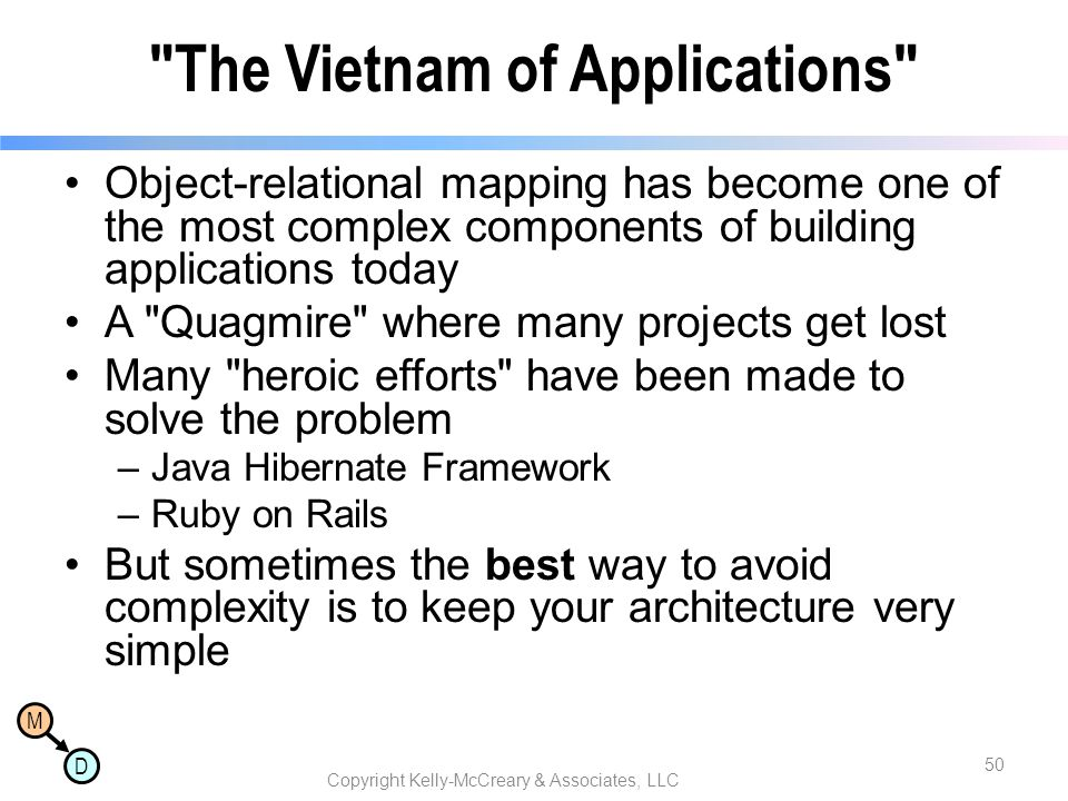The Vietnam of Applications
