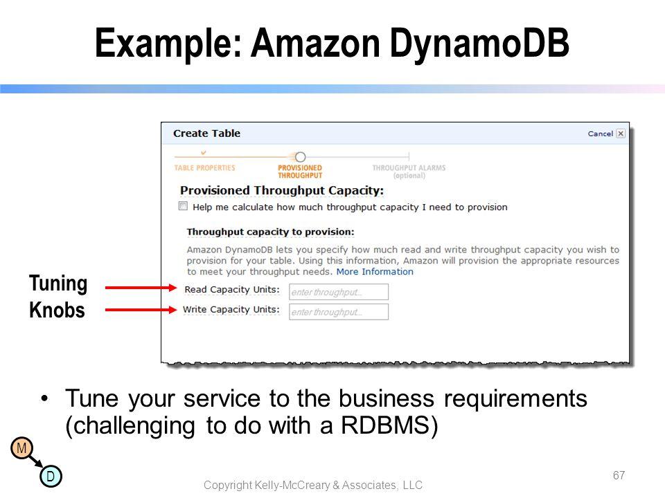 Example: Amazon DynamoDB