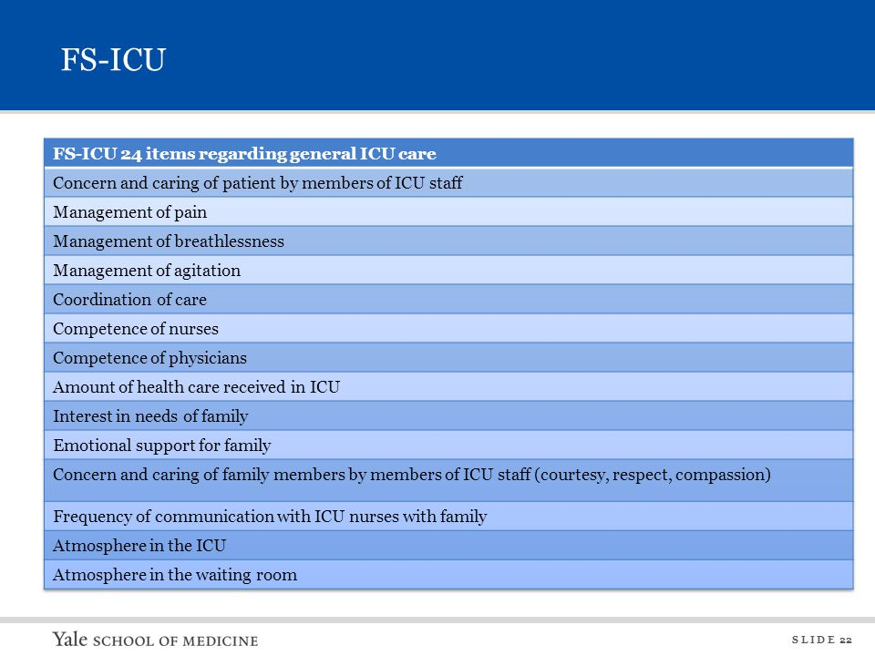 FS-ICU FS-ICU 24 items regarding shared decision making. Frequency of communication by ICU doctors.