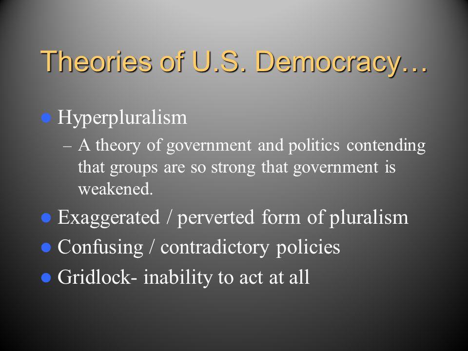 Theories of U.S. Democracy…