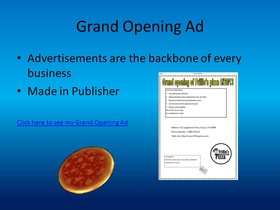 Grand Opening Ad Advertisements are the backbone of every business