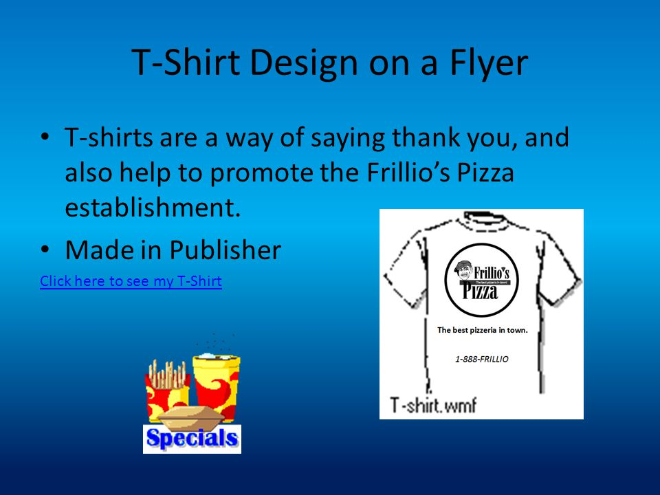 T-Shirt Design on a Flyer