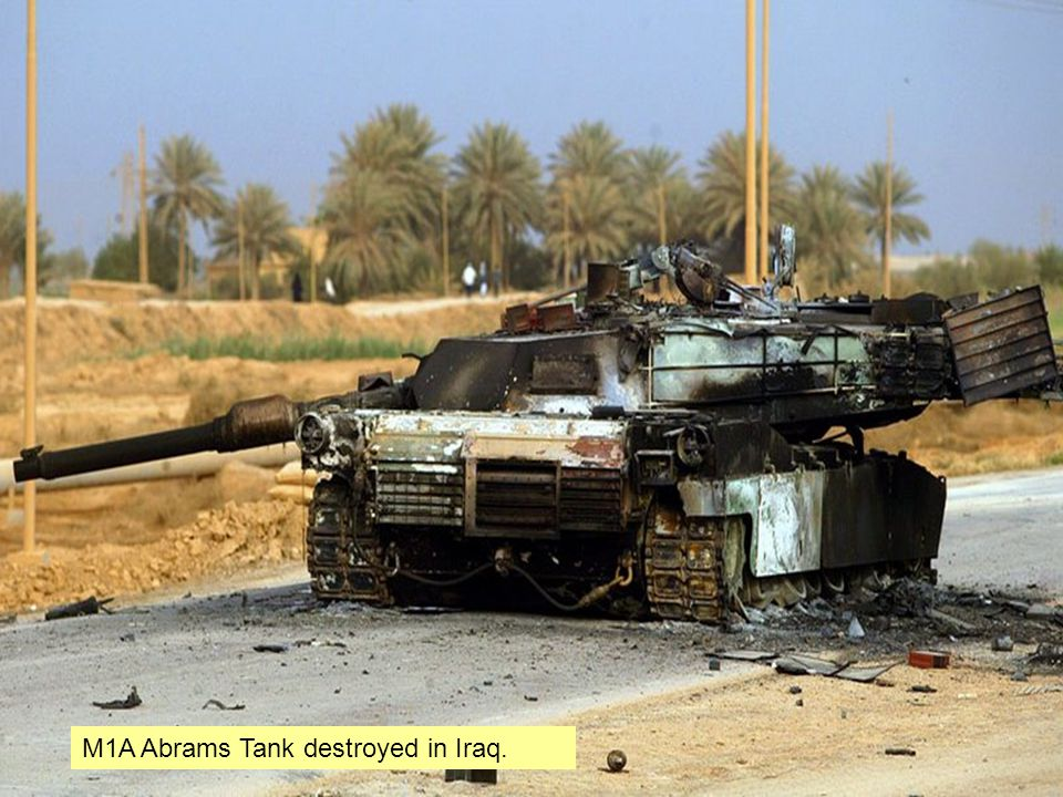 M1A Abrams Tank destroyed in Iraq.