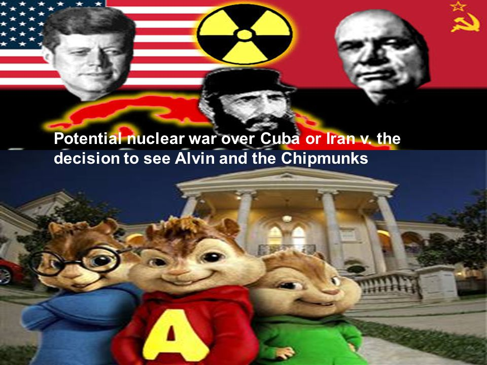 Potential nuclear war over Cuba or Iran v