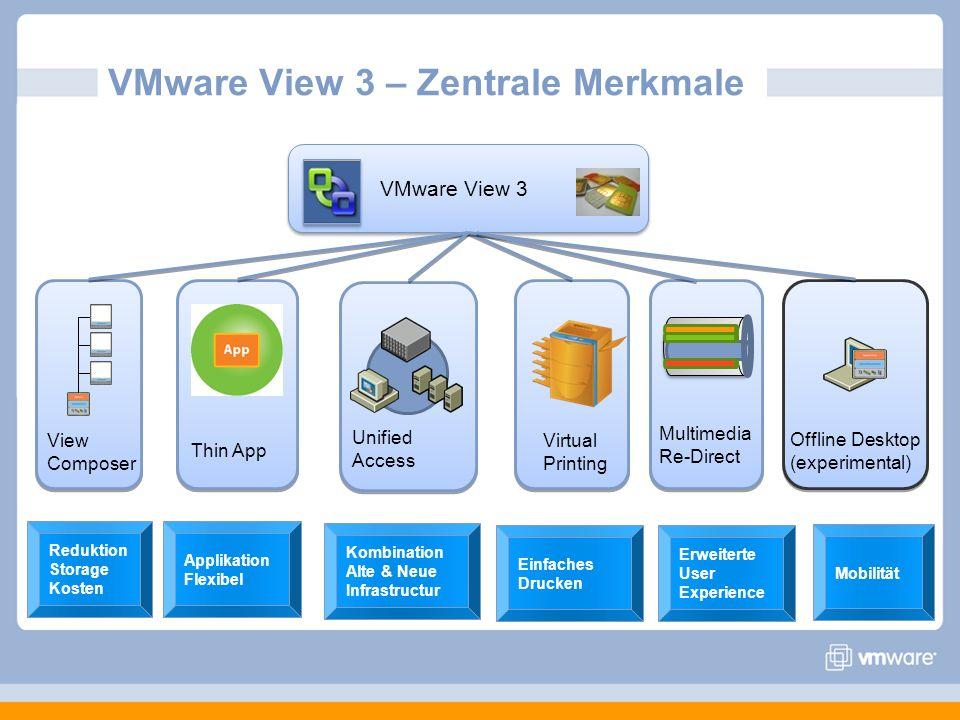 VMware View 3 – Zentrale Merkmale