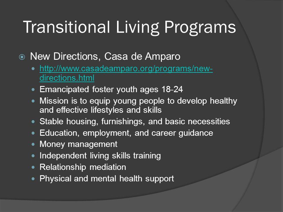 Transitional Living Programs