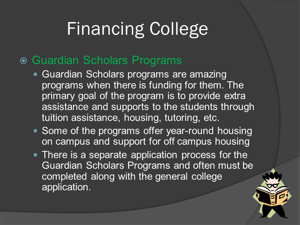 Financing College Guardian Scholars Programs
