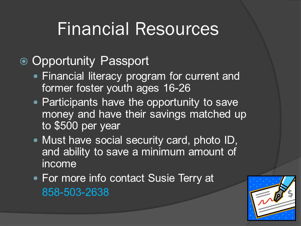 Financial Resources Opportunity Passport