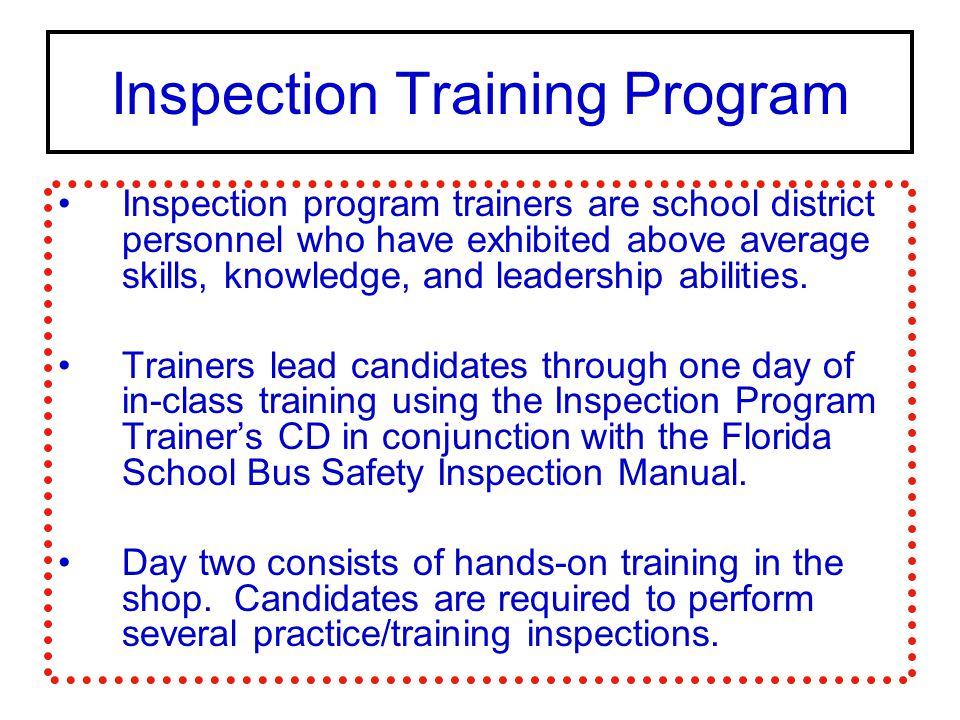Inspection Training Program