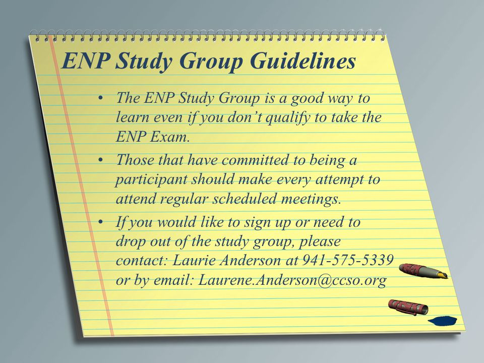 ENP Study Group Guidelines