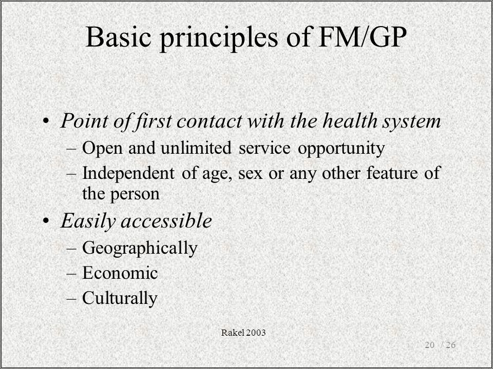 Basic principles of FM/GP