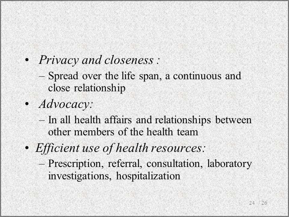 Privacy and closeness :