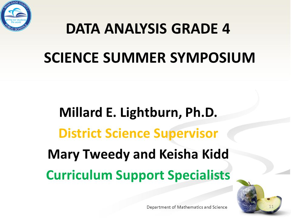 SCIENCE SUMMER SYMPOSIUM