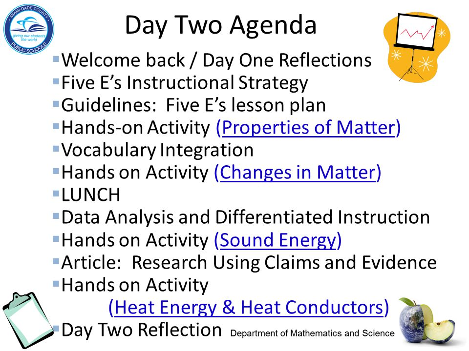 Day Two Agenda Welcome back / Day One Reflections