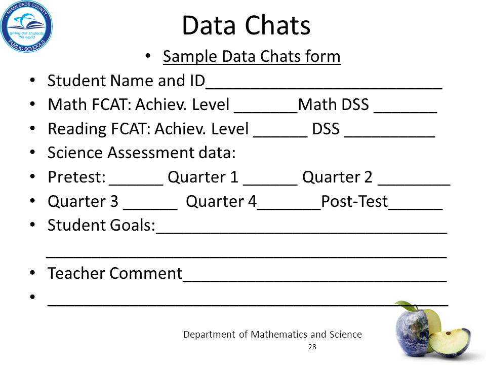 Data Chats Sample Data Chats form