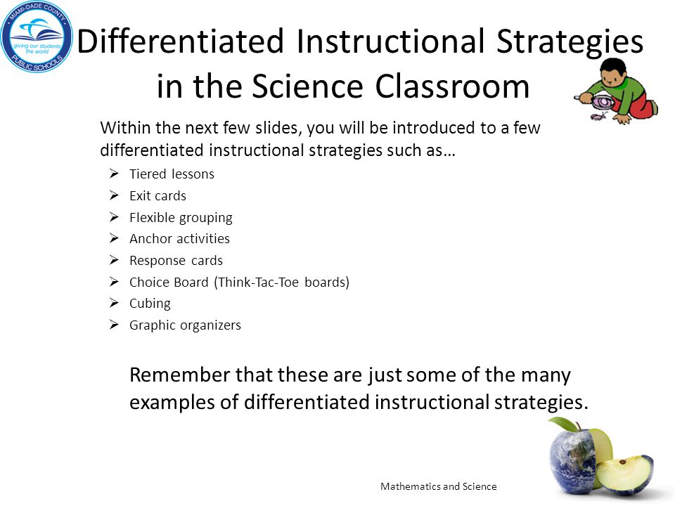 Differentiated Instructional Strategies in the Science Classroom